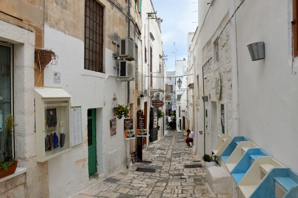 Narrow street in Ostuni