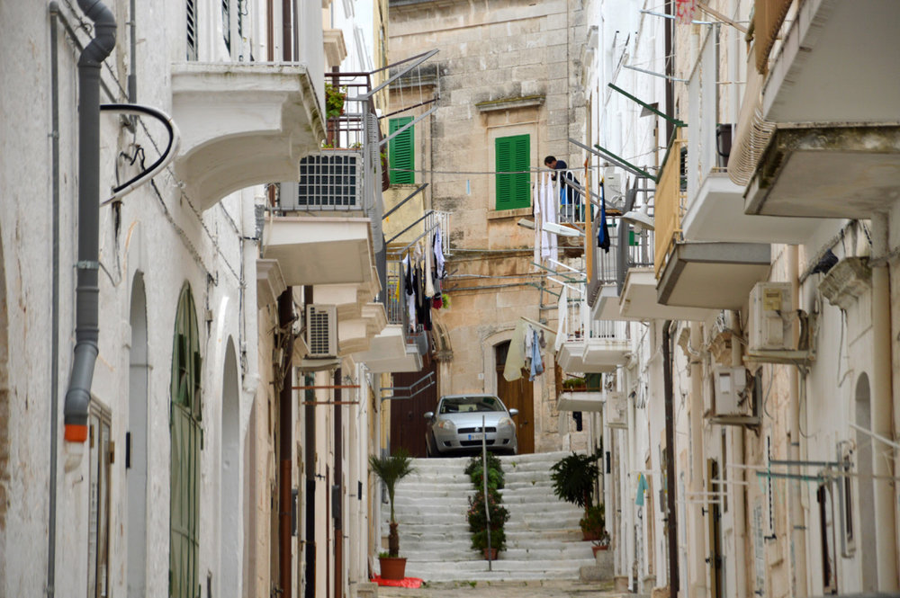 The newer part of Ostuni