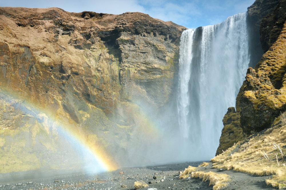 Skofagoss Waterfall in Iceland