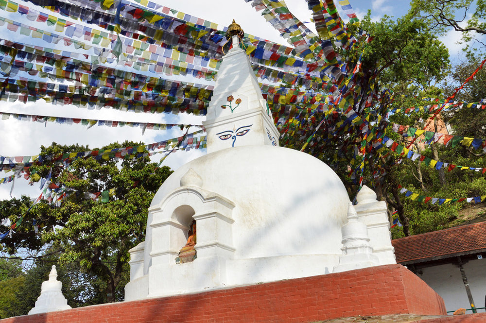 Swayambhu Stupa - one of the shrines