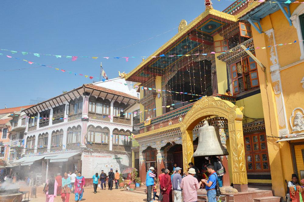 Buildings around Boudhanath Stupa