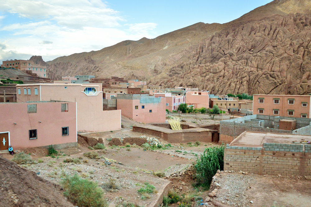 One of the villages in Dades Valley