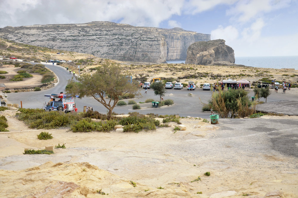Car Park next to the Azure Window