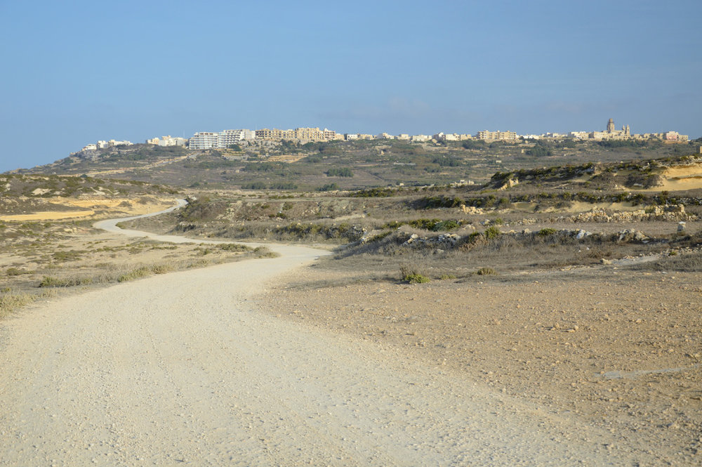 The road to the village of Zebbug