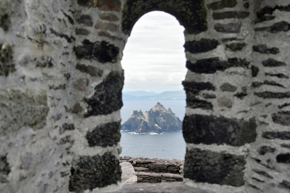 Little Skellig island seen from the monastery
