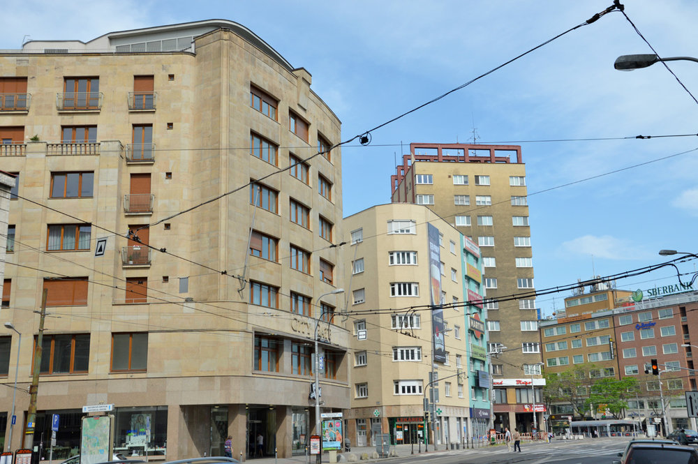 Typical buildings in Bratislava