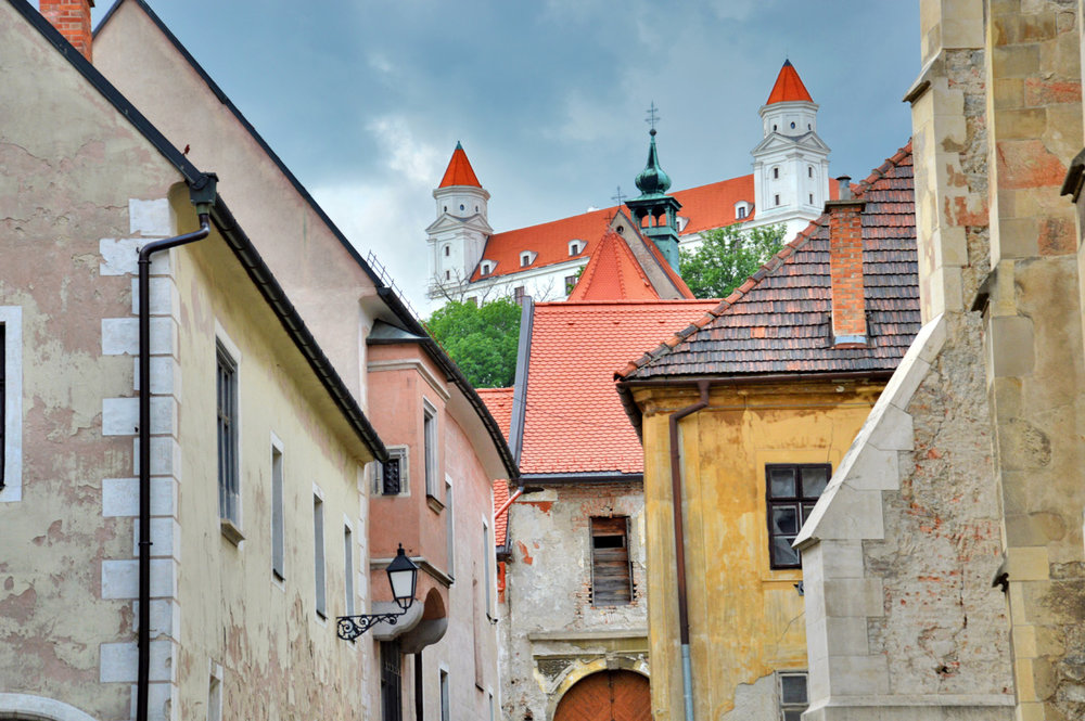 The castle and the old town street