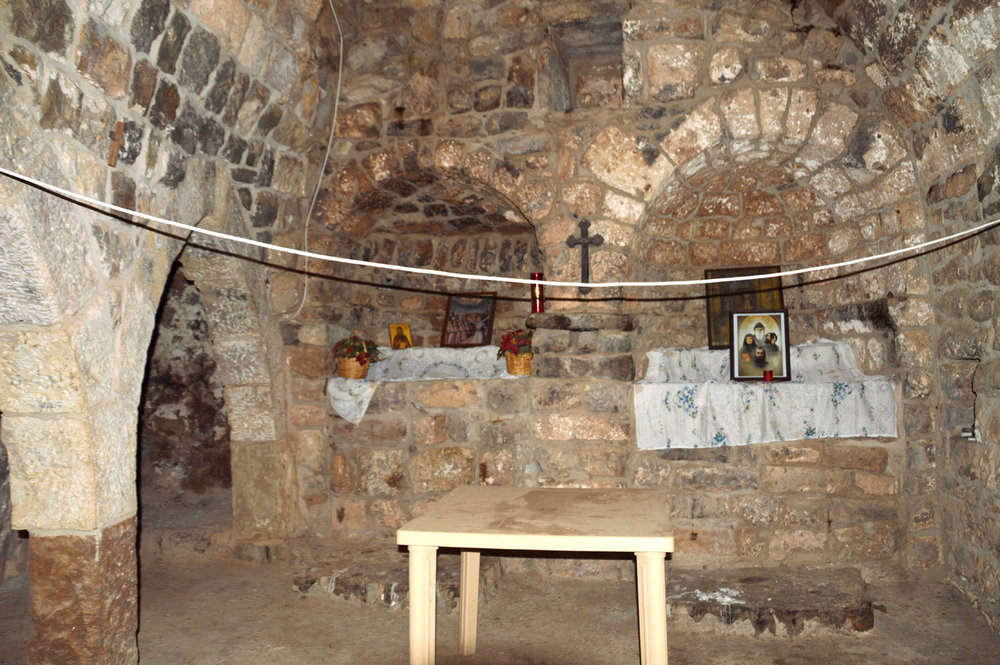 Saint Shmouni church inside - frescoes were destroyed by locals trying to renovate it