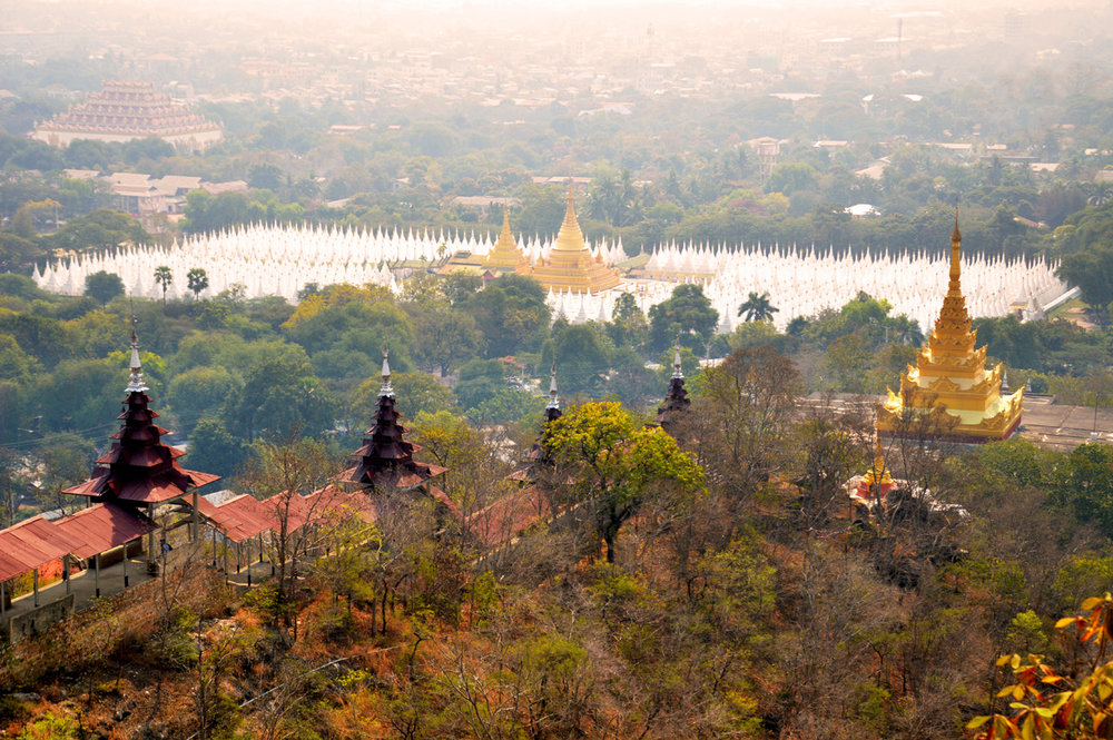 Sandamuni Pagoda seen from Mandalay Hill