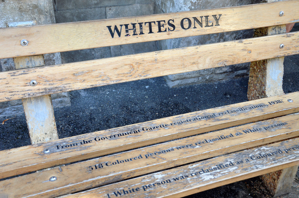 "A bench for ""whites only"""