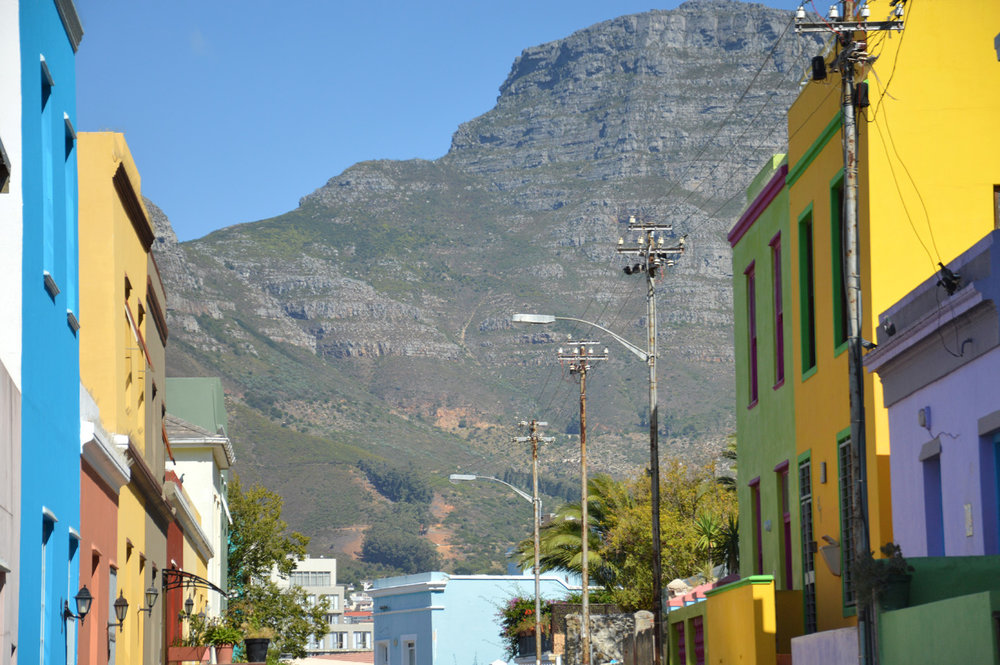 Bo-Kaap and the Table Mountain