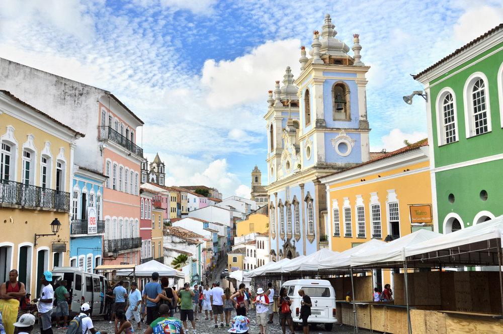 Rua principal, em, centro histórico