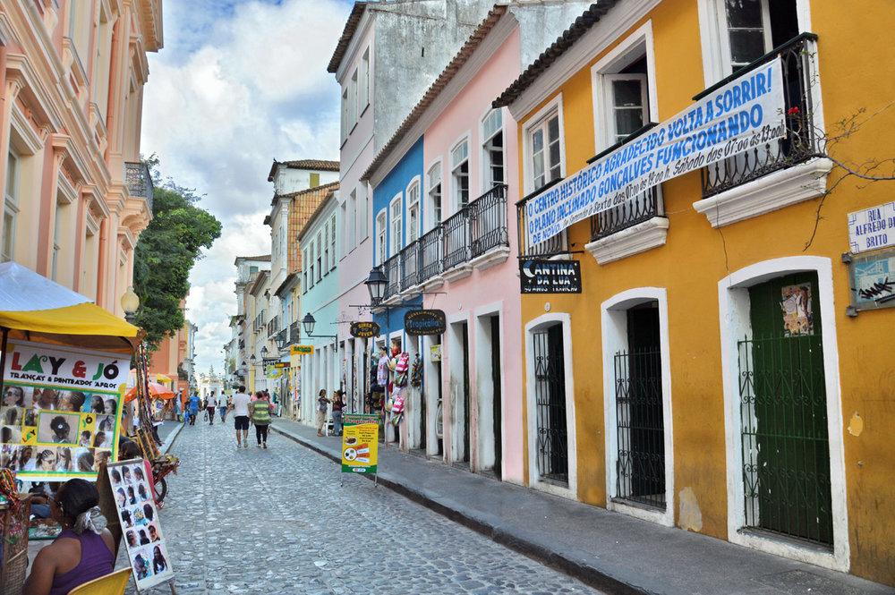 Bela rua em Salvador