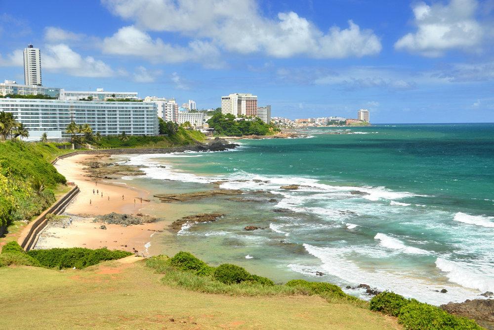 O litoral de Salvador