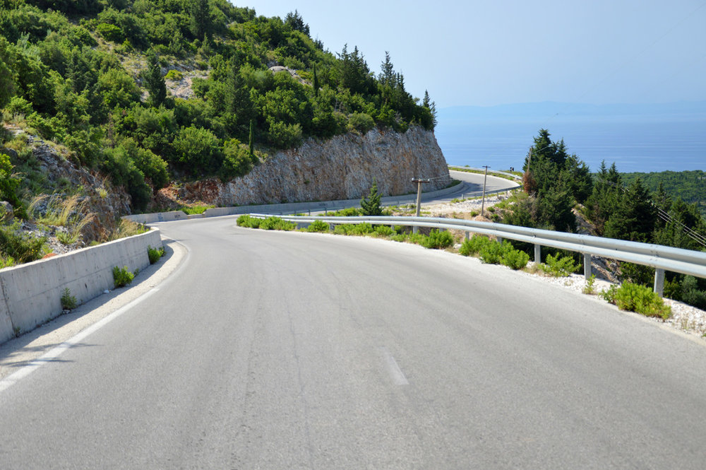 The road leading to Llogara Pass is in perfect condition