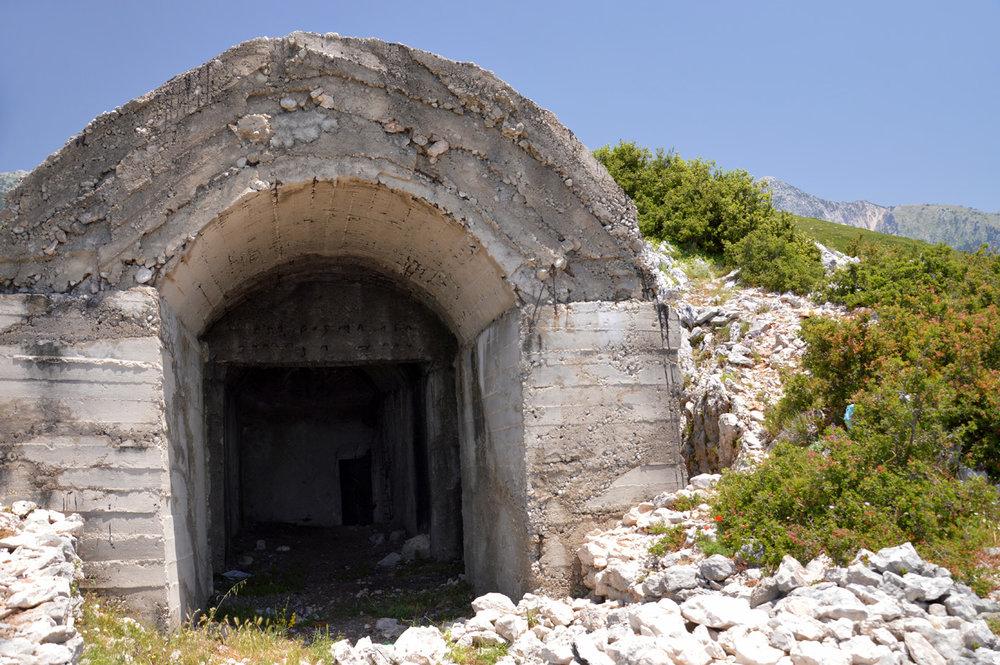 The Abandon bunker along the Llogara Pass