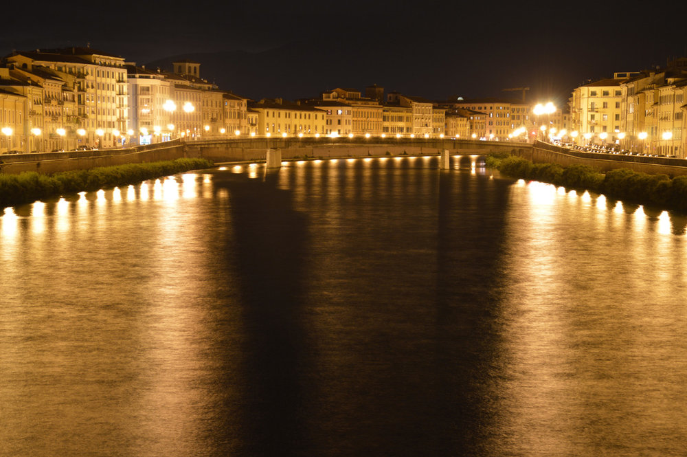 River Arno at night