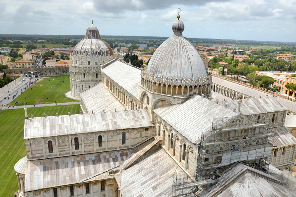 The view of the Cathedral from the Leaning Tower