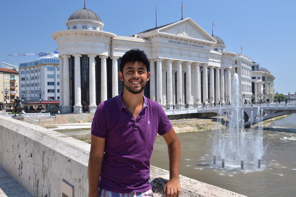 In modern Skopje
