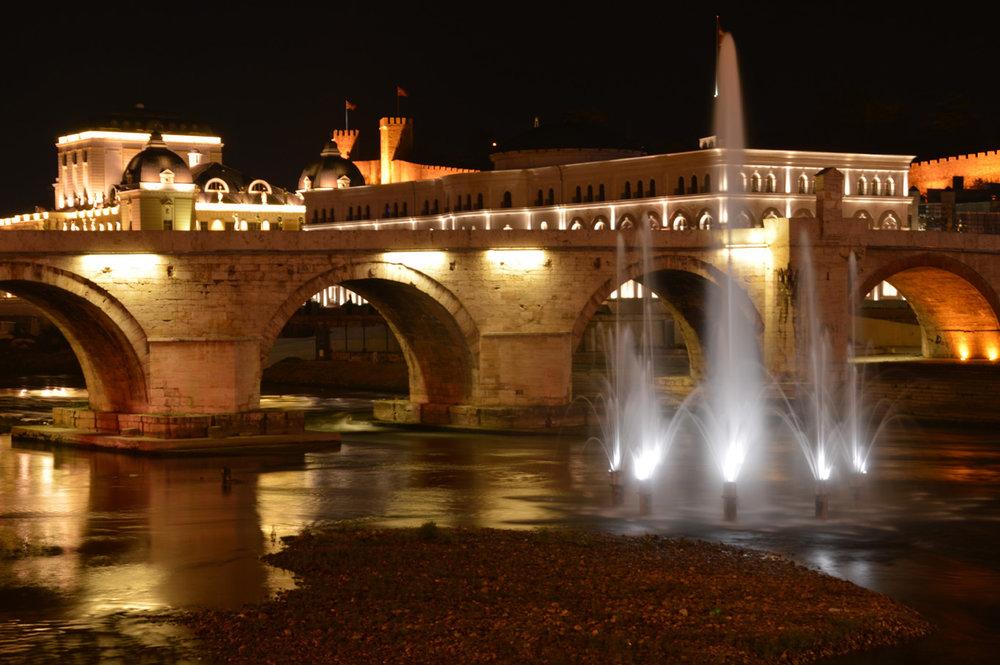 Old Stone Bridge at night