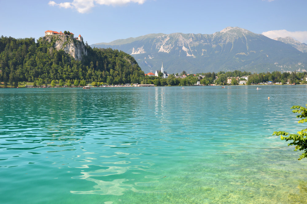 Turquoise waters of Lake Bled