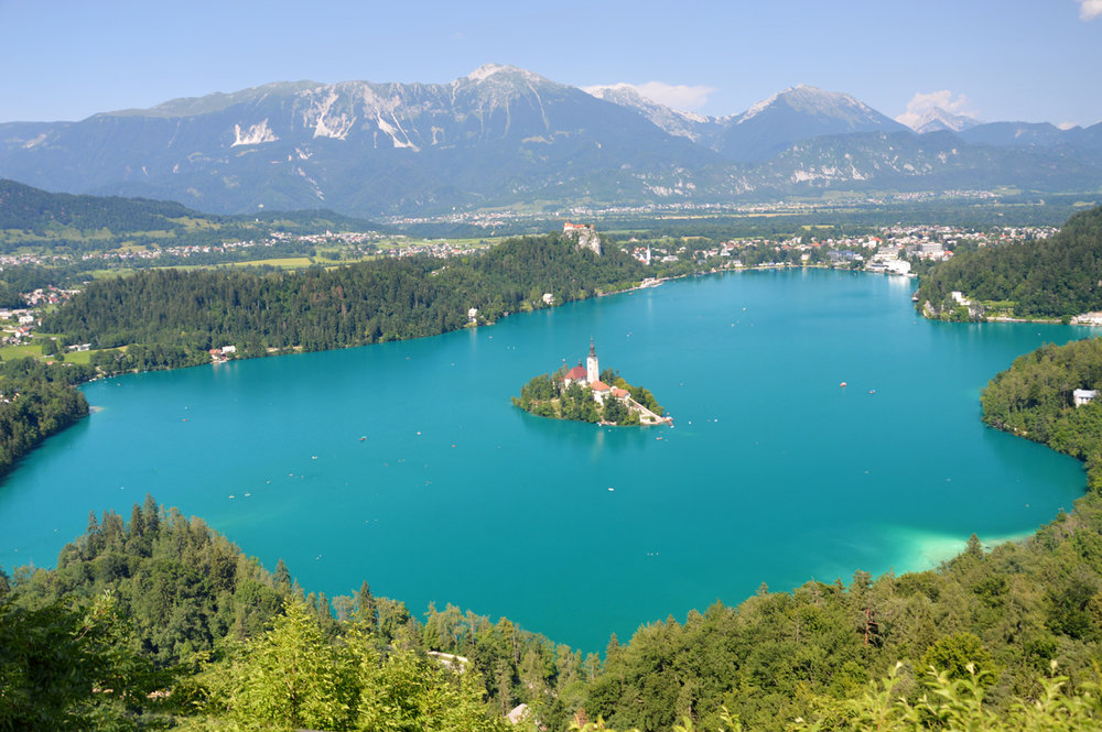 The entire lake Bled