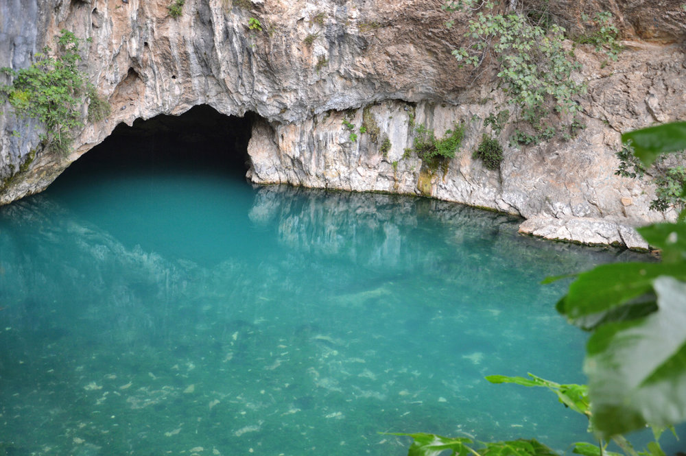 The source of the river Buna
