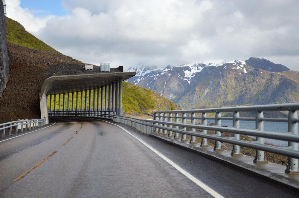 Roads in Lofoten