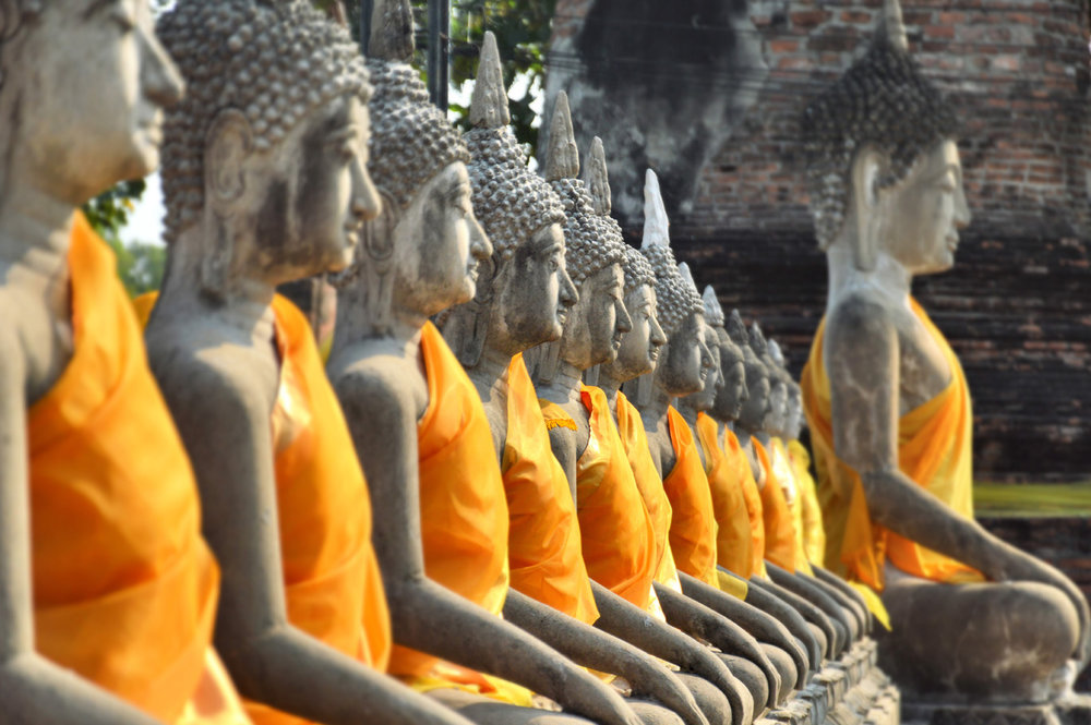 Buddha statues at Wat Yai Chai Mongkhon