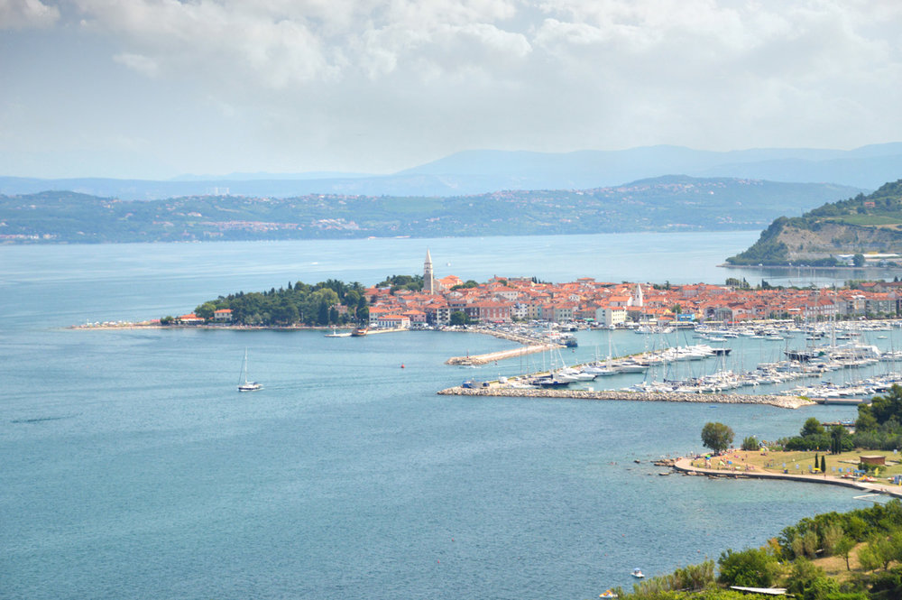 The town of Izola on the way to Strunian