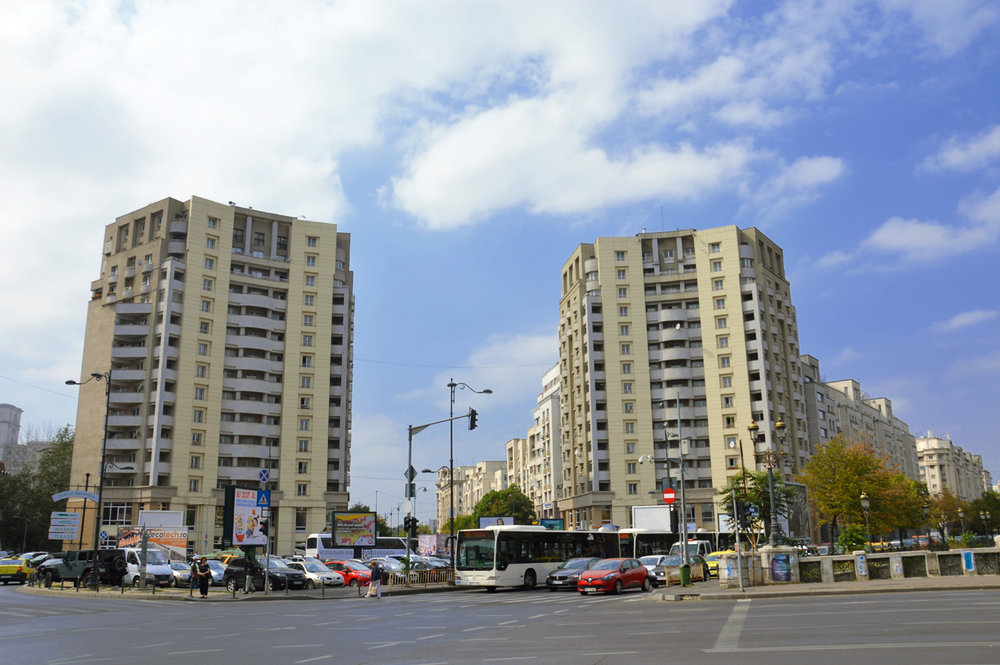 Modern blocks in Bucharest
