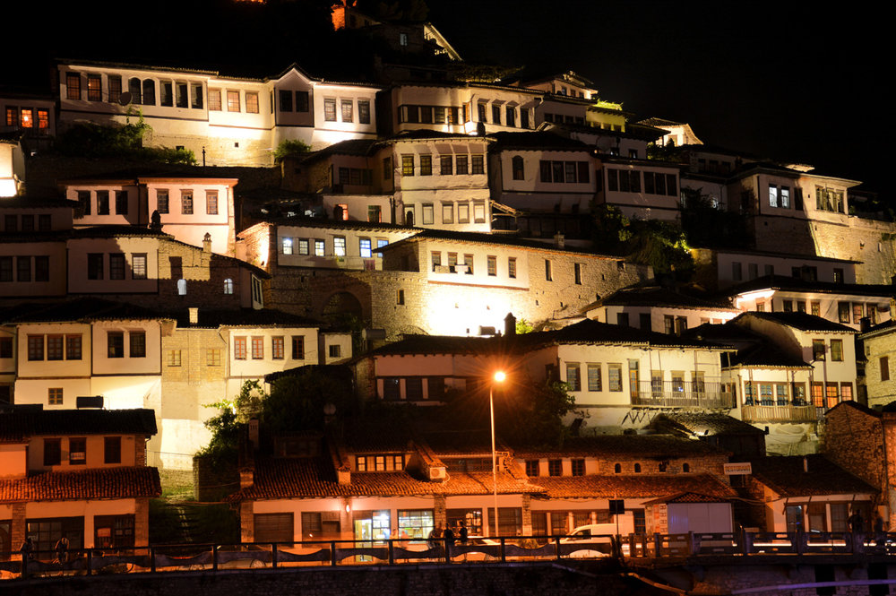 The Old Town at night
