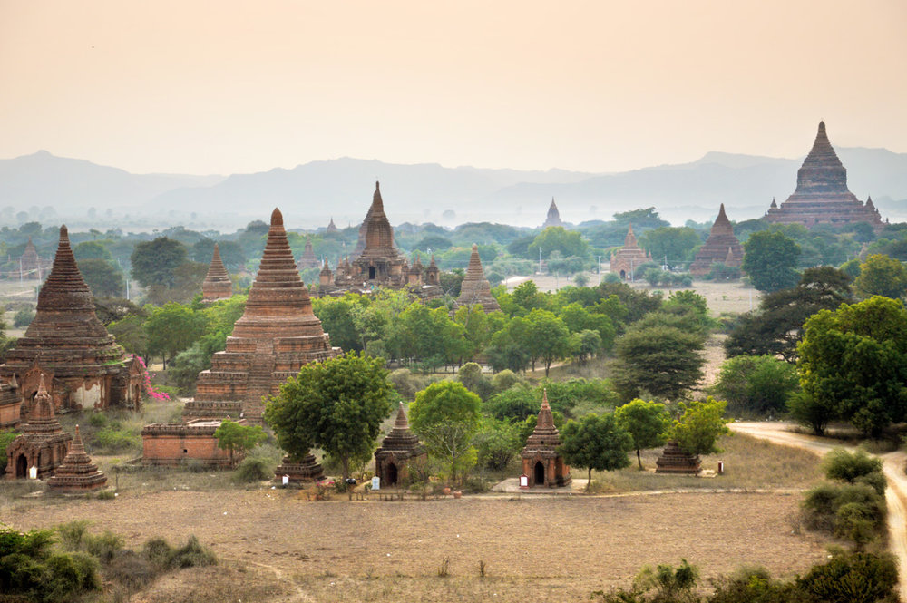 And this is not the view from the balloon flight - this was taken from the Sunset Temple