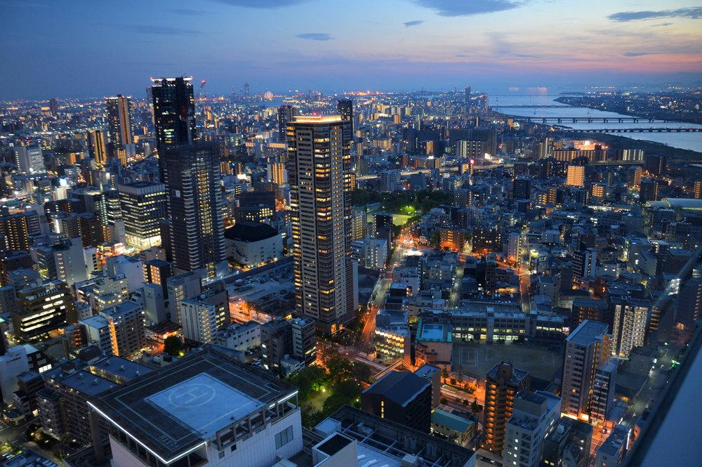 Osaka at night     more info