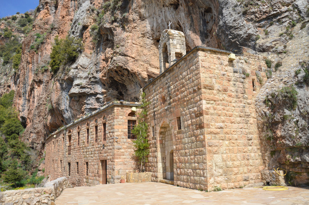 Church built into the rock - Qadisha