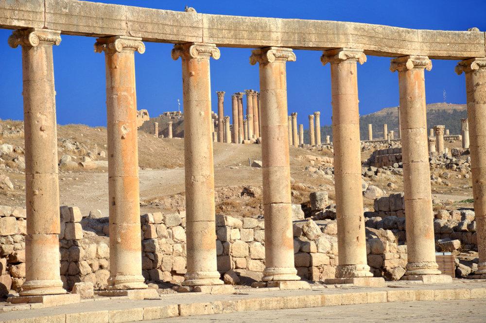 Columns in Jerash