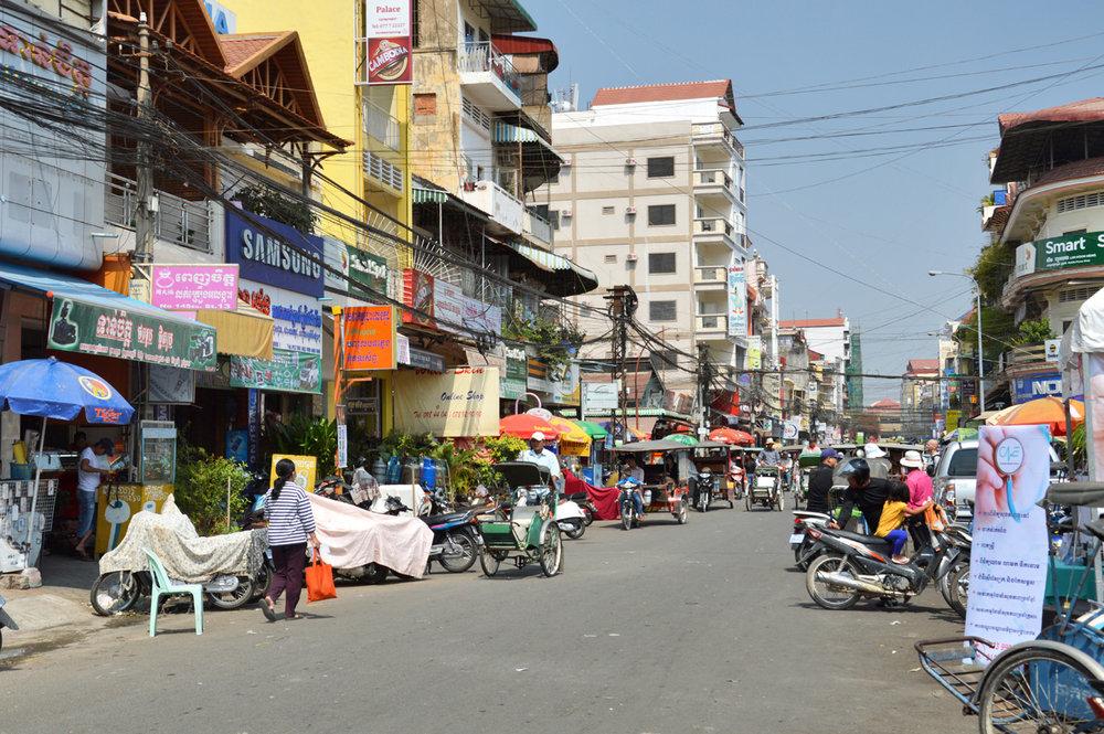 Ordinary street in Phnom Penh