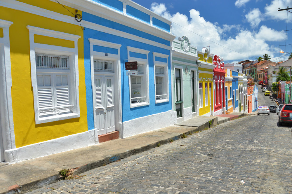Colorful houses of Amparo Largo