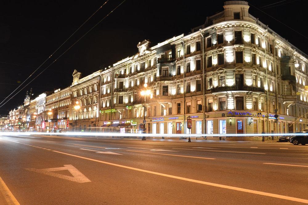 Nevsky Prospect at night
