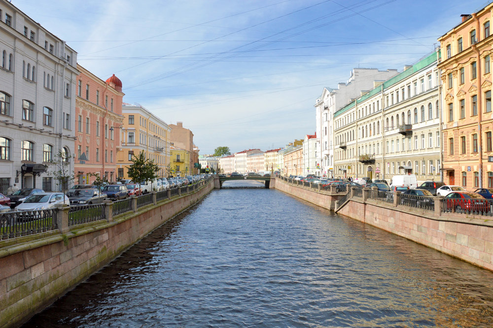 One of the city's canals
