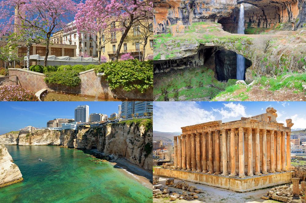 1. Downtown Beirut, Baatara Gorge, Beirut Waterfront and Baalbek Ancient Roman ruins