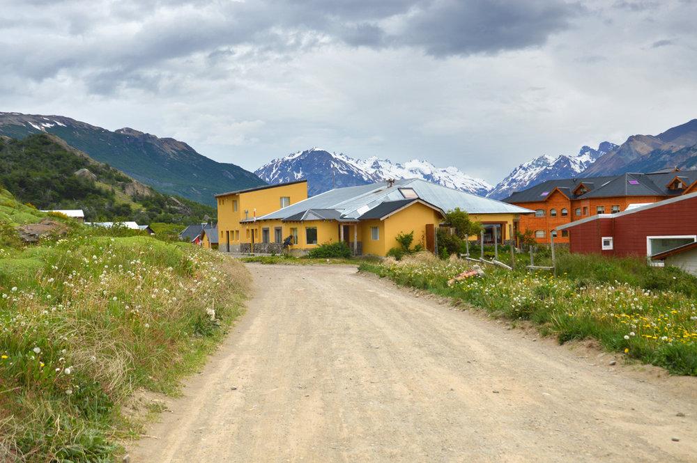 A typical street in El Chalten