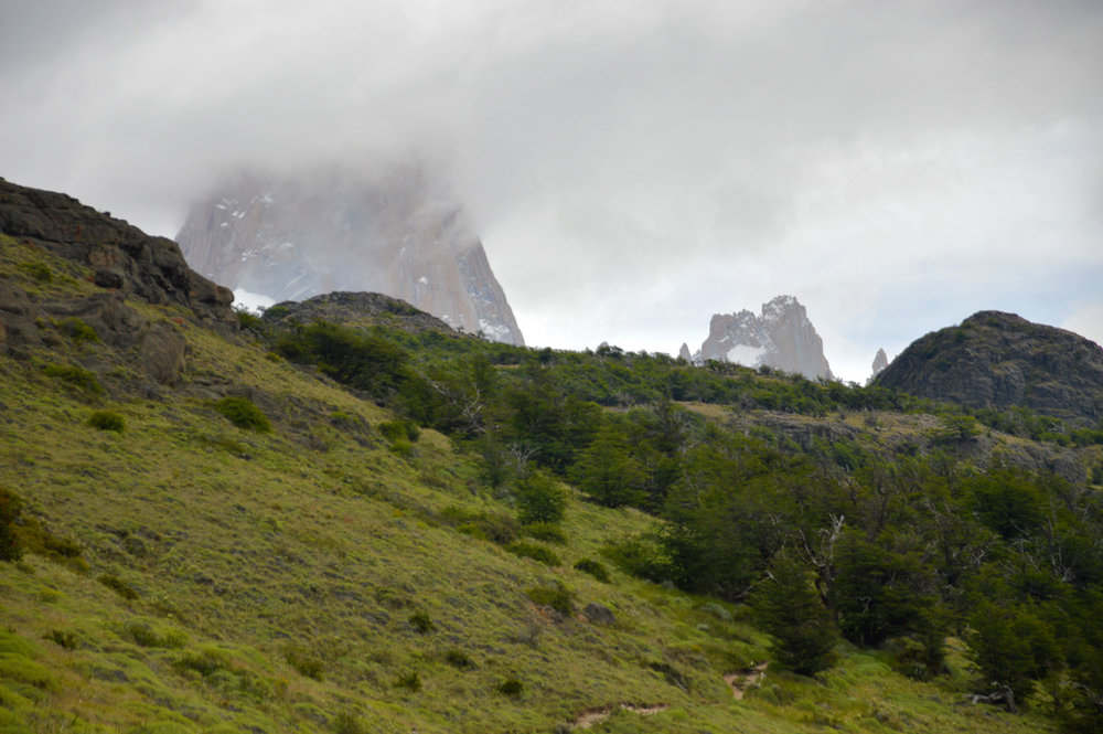 Fitz Roy covered by clouds