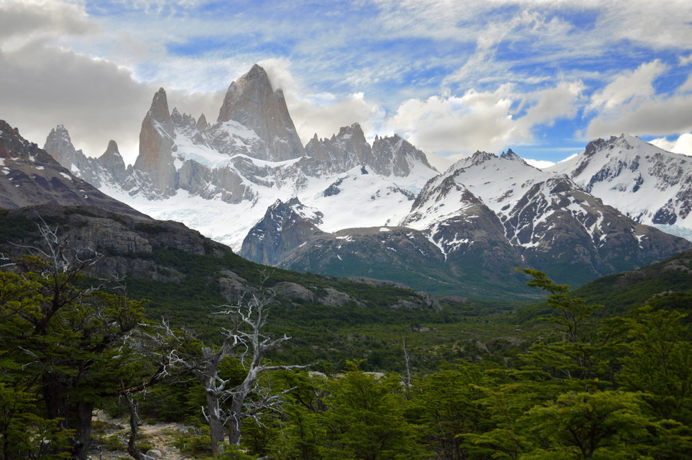 Completely clear view of Fitz Roy on the way back - view from the Mirador del Fitz Roy (number 4 on the map)