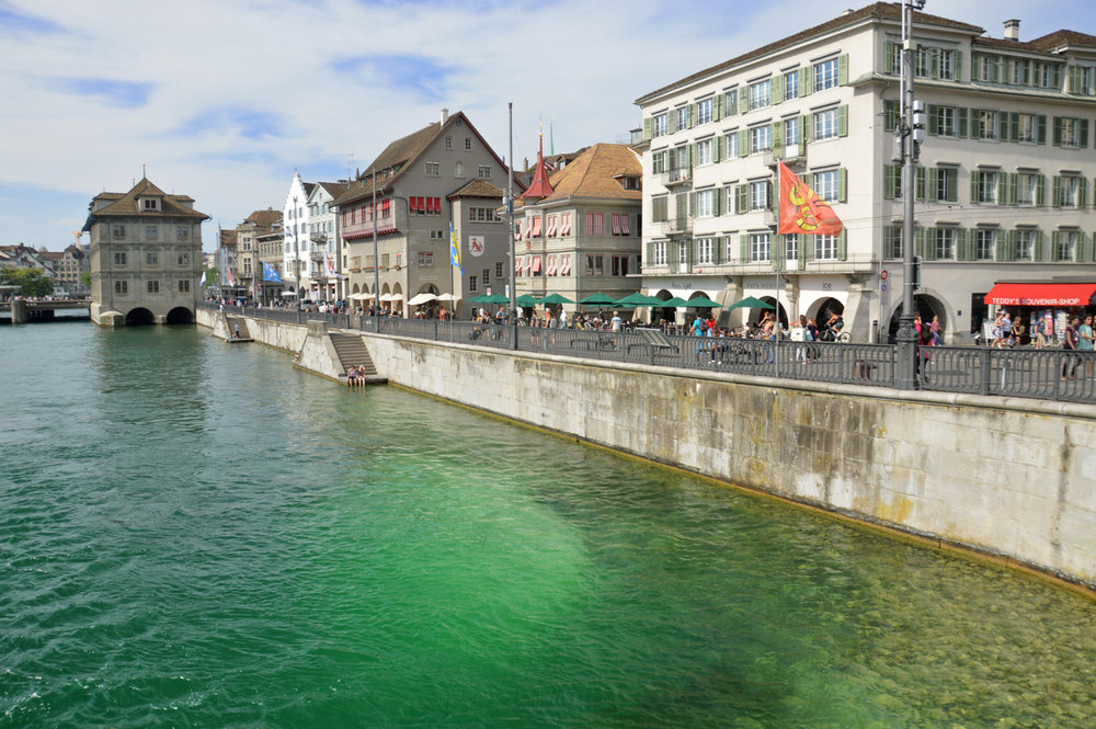 Green Limmat River