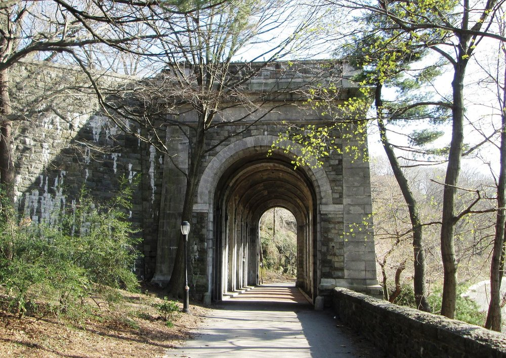 Fort Tryon Park offers impressive views across the Hudson River.