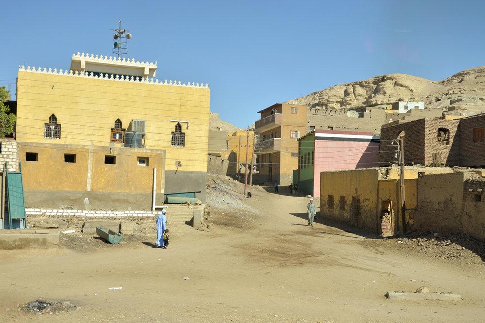 Desert village on the way to Aswan