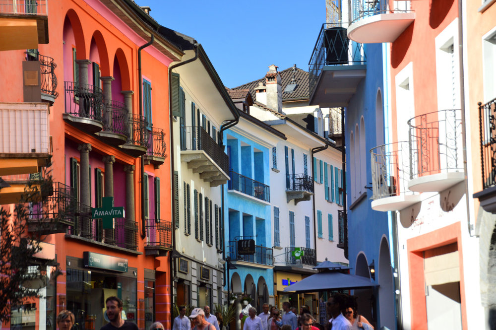Colorful street in Ascona
