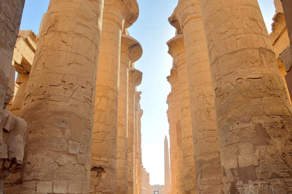 Columns of Karnak Temple     more info