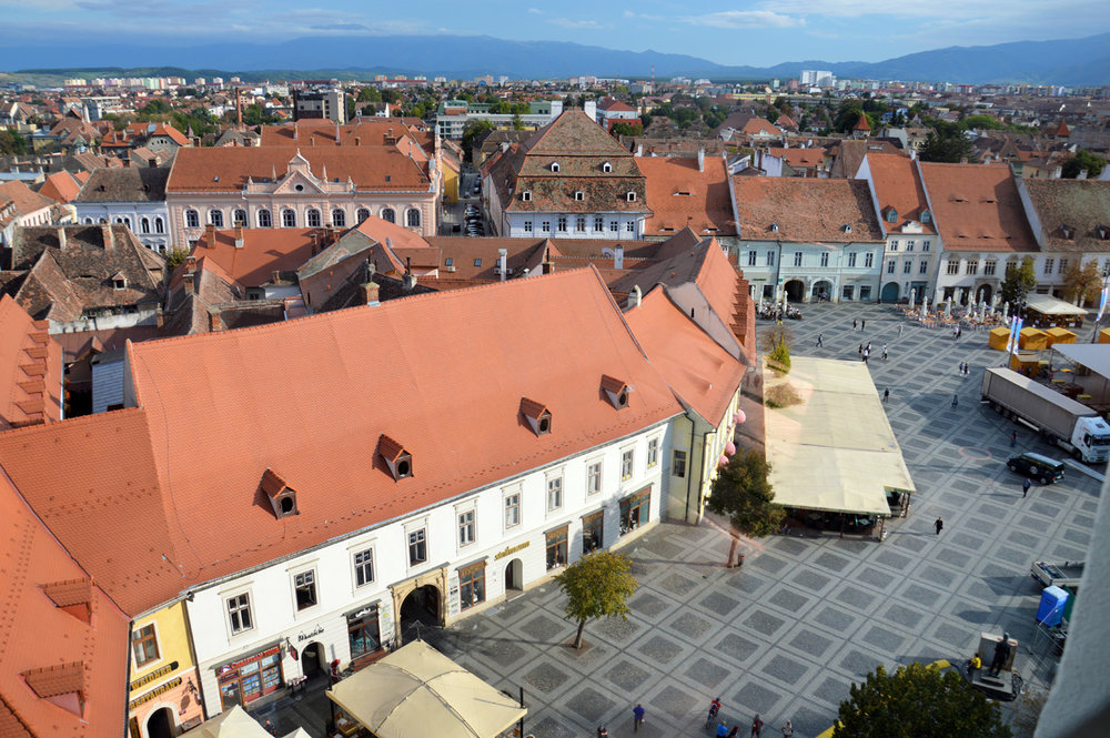 The view from the Council Tower over the Large Square